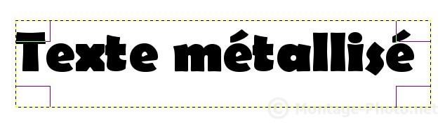 texte - gimp-texte-metallise